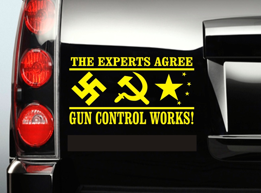 The Experts Agree Gun Control Works Vinyl Decal