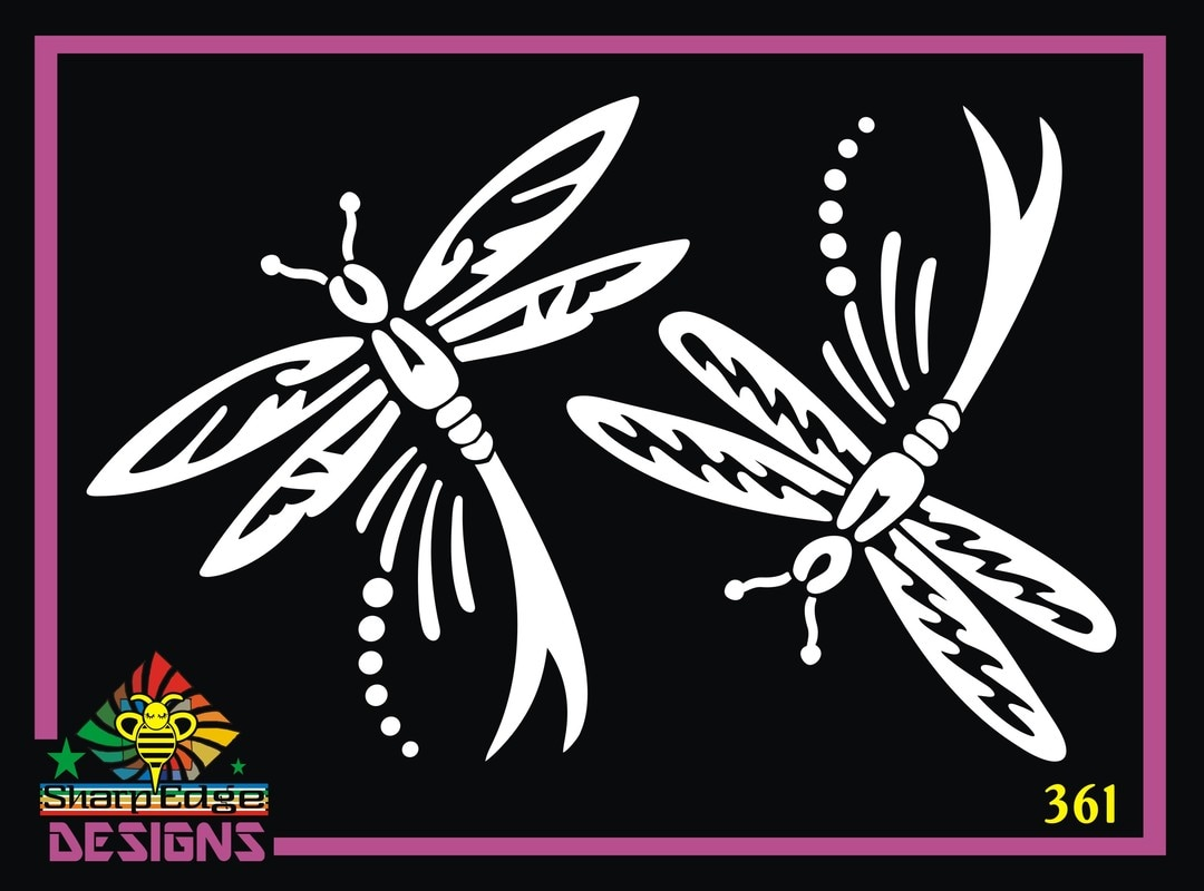 Dragonflies (Set of Two) Vinyl Decal, Dragonfly Vinyl Sticker, Dragonfly Decal, Dragonfly Sticker, Dragonfly Decal, Dragonfly Car Decal, Dragonfly Car Sticker, Animal Decal, Dragonfly Stickers, Sticker, Animal Sticker, Popular Decals